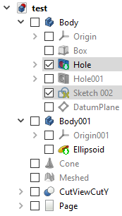 FreeCAD DocumentTree-Checkboxes.png