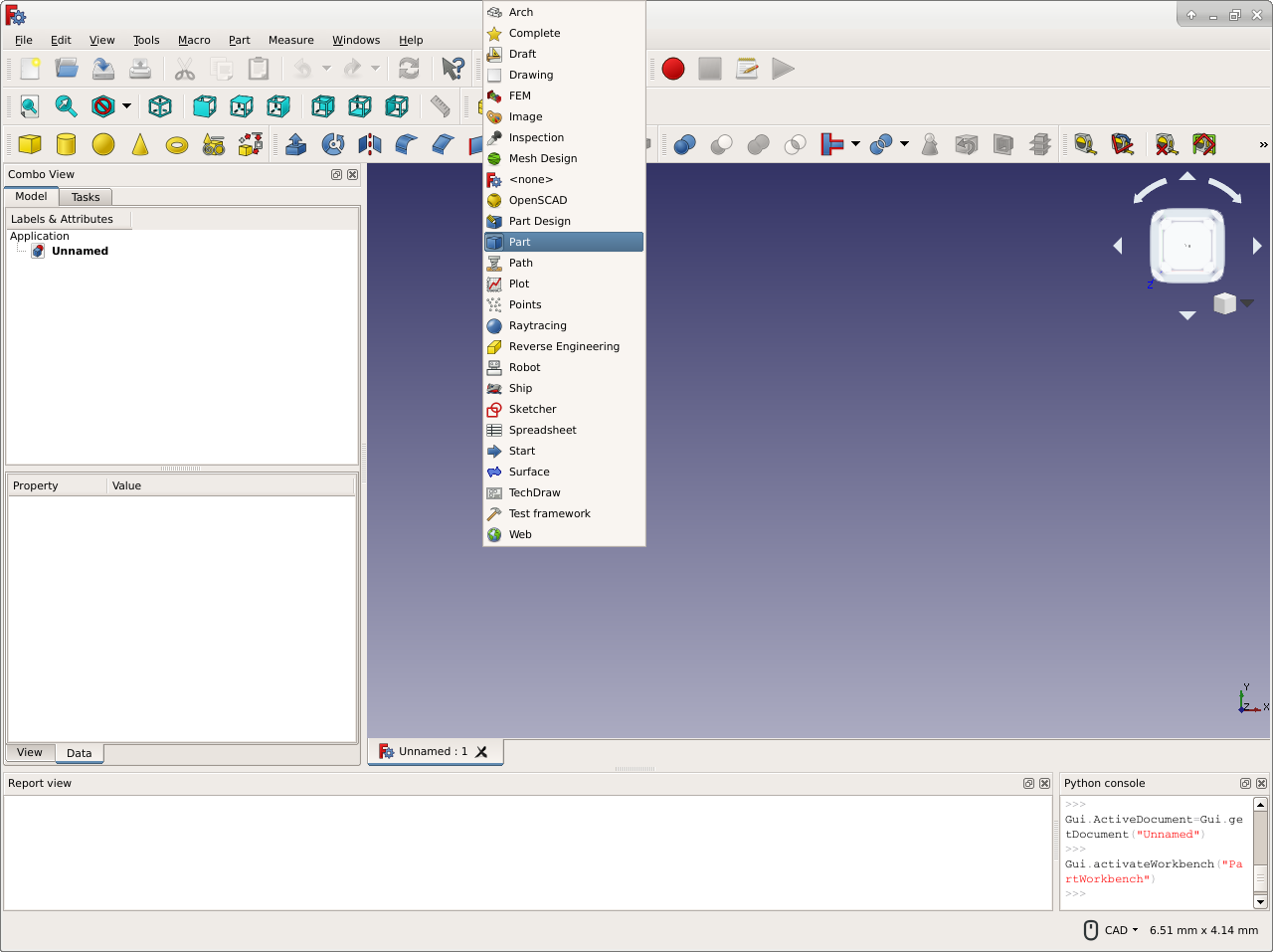 FreeCAD-v0-18-WorkbenchMenu.png