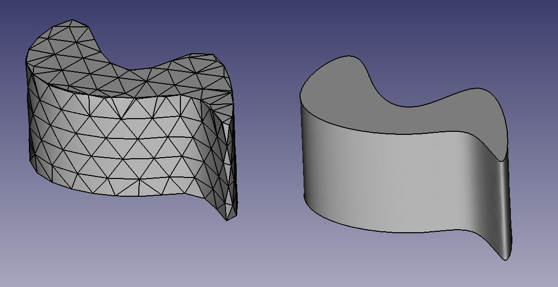Difference between mesh and brep geometry