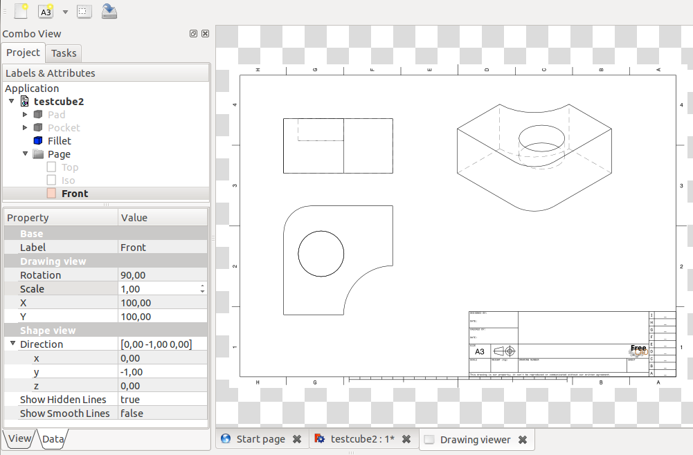 Drawing Lines With Php : File drawing views freecad documentation