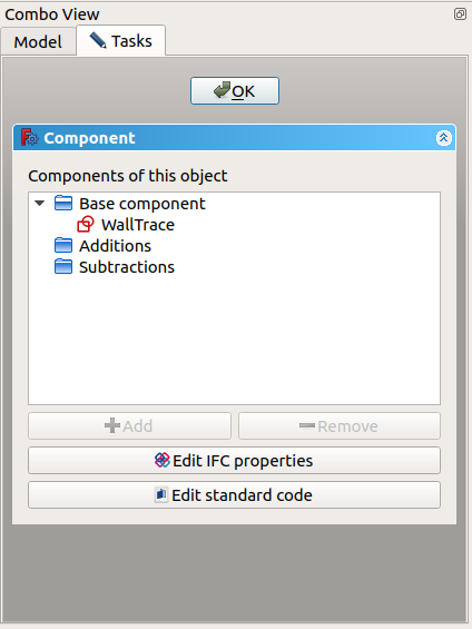 FreeCAD Combo view Task panel ArchComponent.png