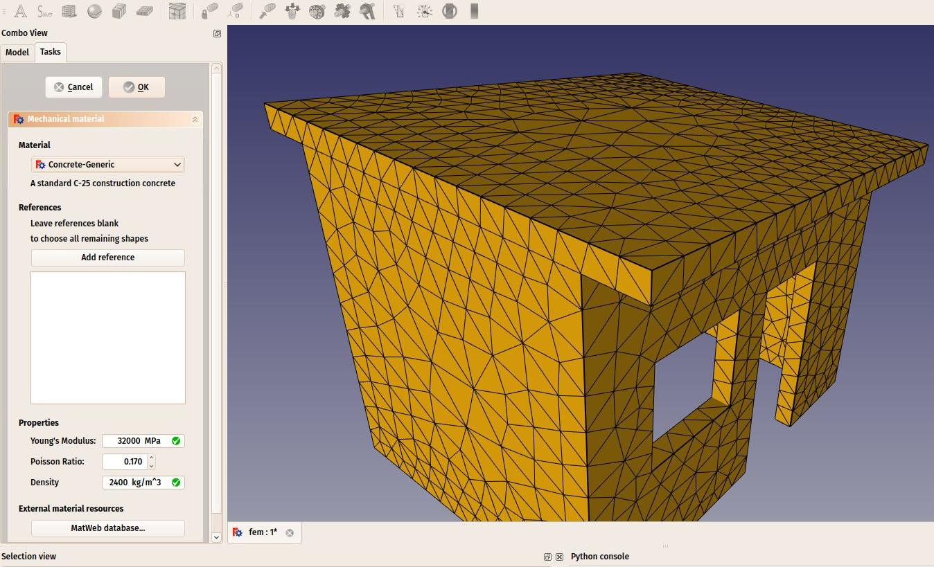 Creating FEM analyses · A FreeCAD manual