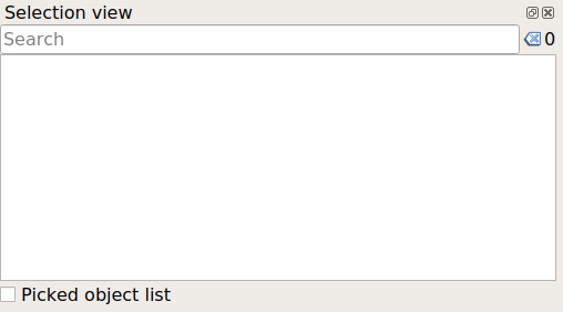 FreeCAD Selection view empty.png