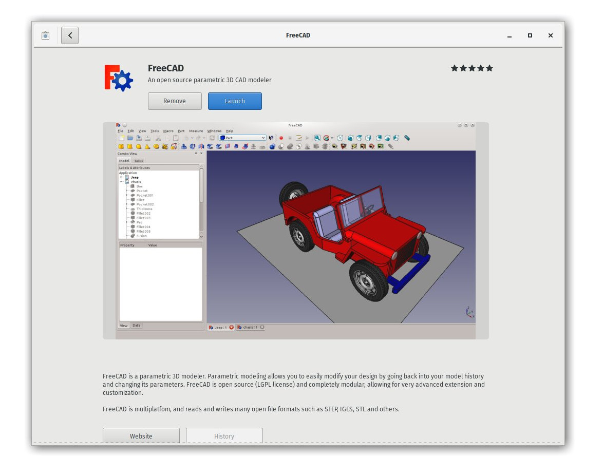 FreeCAD installation on linux, step 2