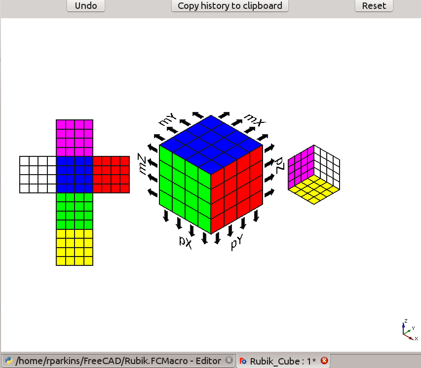 Macro Rubik Cube - FreeCAD Documentation