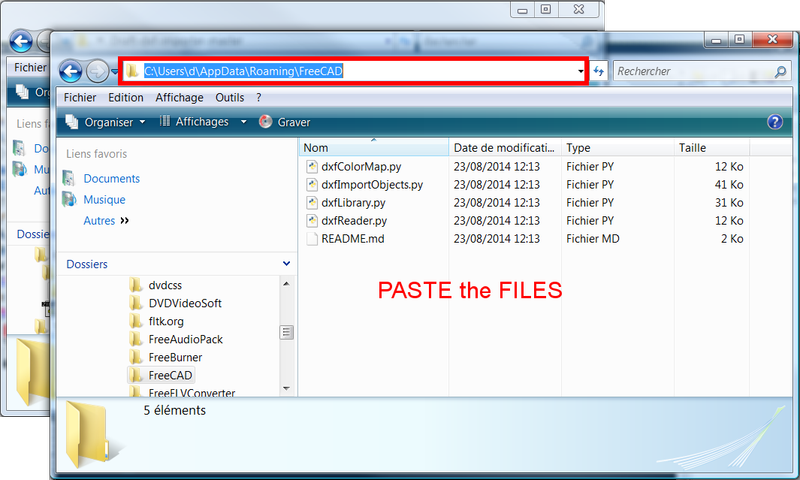 paste the files in the folder