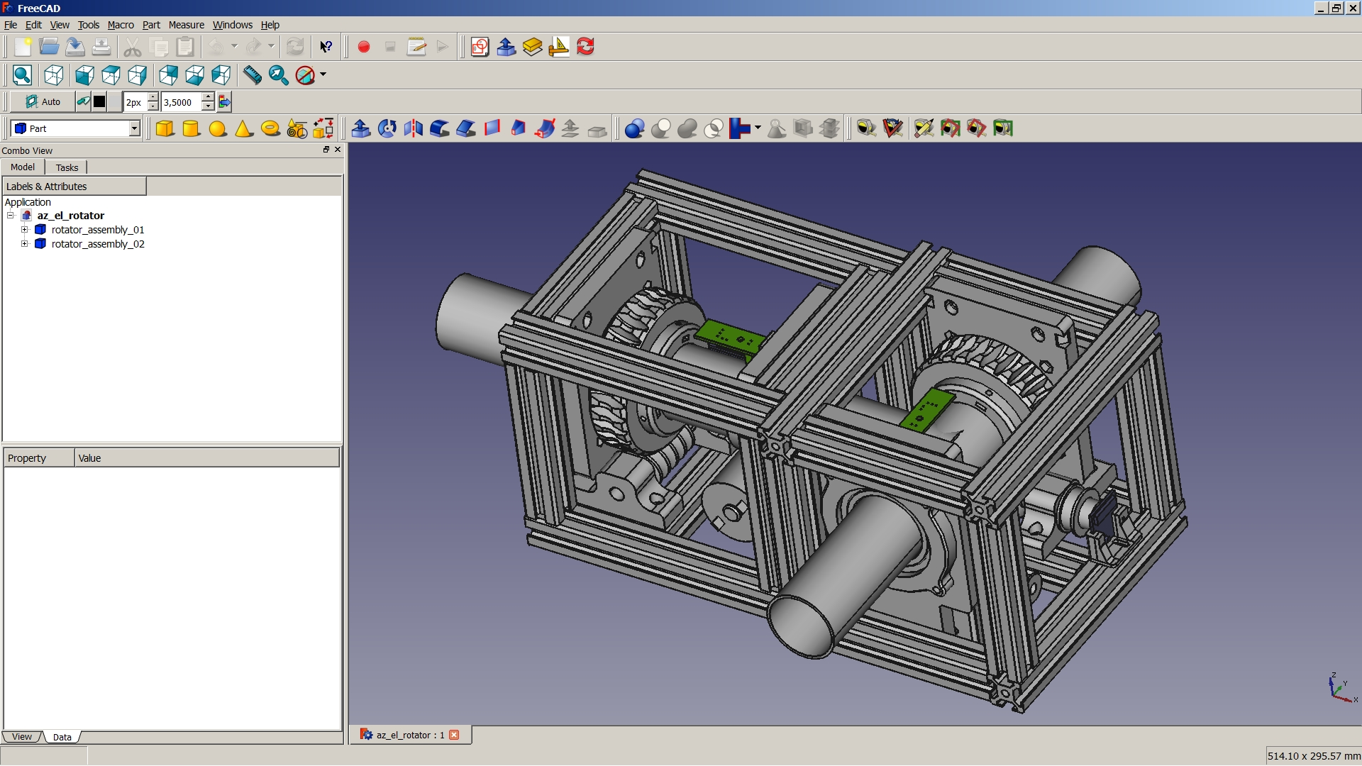File Satnogs Rotator Freecad Jpg Freecad Documentation