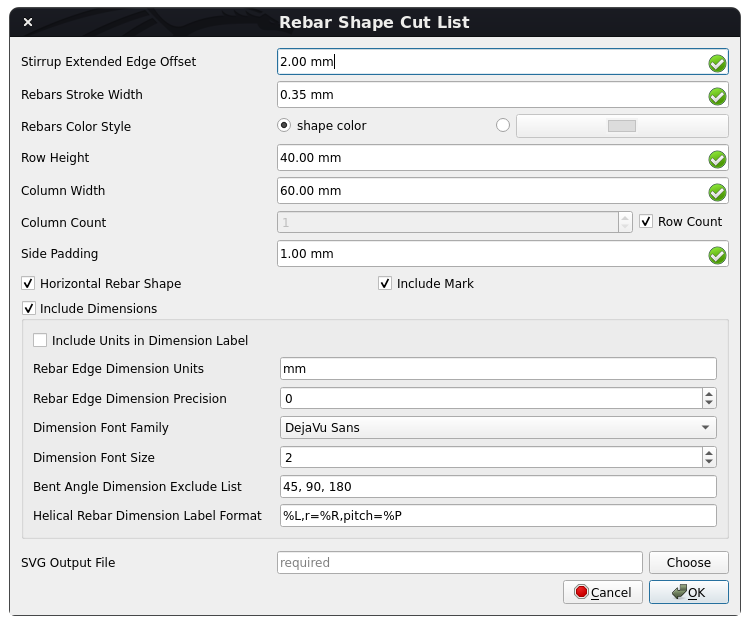 Reinforcement Bar Shape Cut List Dialog.png