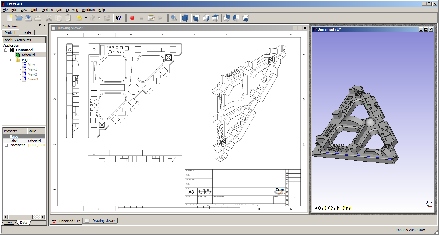 File drawing freecad documentation for Software cad 3d