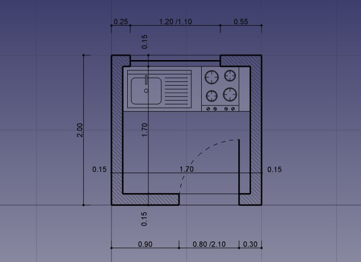 Traditional 2D drafting · A FreeCAD manual