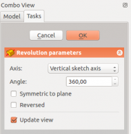 PartDesign revolution parameters (scaled to 190px)