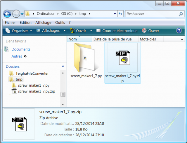 The decompressor finished his work and created a new folder with the unpacked file