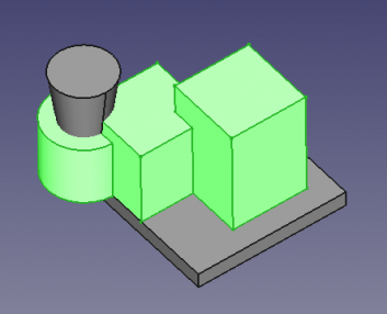 FreeCAD Selection view one object 3D.png