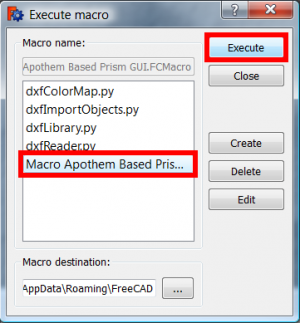 Click on your new macro and button Execute