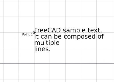 Draft Text - FreeCAD Documentation