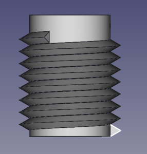 T13 12 Threads Helical thread cylinder.png